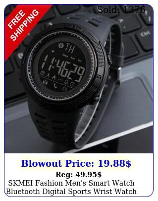 skmei fashion men's smart watch bluetooth digital sports wrist watch waterproo