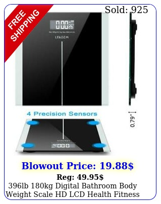 lb kg digital bathroom body weight scale hd lcd health fitness  batter