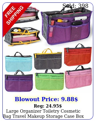 women toiletry cosmetic bag travel makeup organizer storage case containe