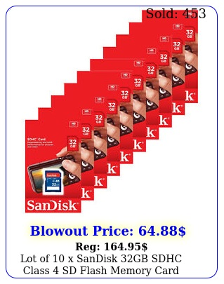 lot of x sandisk gb sdhc class sd flash memory card camera sdsdbg