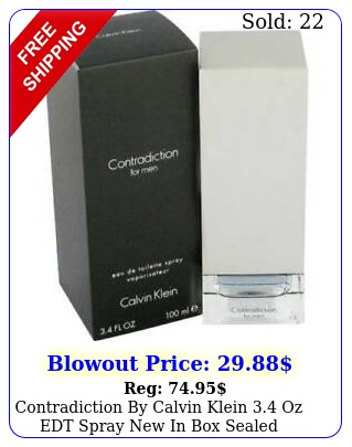 contradiction by calvin klein oz edt spray in sealed cologne me