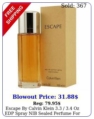 escape by calvin klein  oz edp spray nib sealed perfume wome