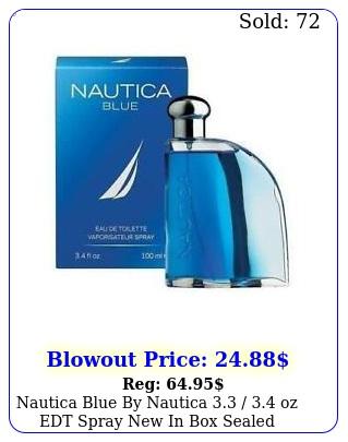 nautica blue by nautica  oz edt spray in sealed cologne me