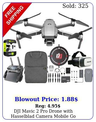 dji mavic pro drone with hasselblad camera mobile go extended warranty bundl