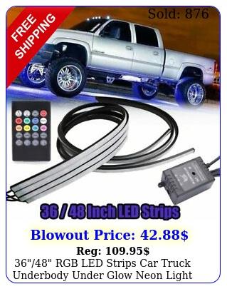 rgb led strips car truck underbody under glow neon light tube system ki