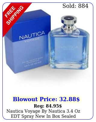 nautica voyage by nautica oz edt spray in sealed cologne me