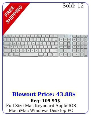 full size mac keyboard apple ios mac imac windows desktop pc wired laptop desig