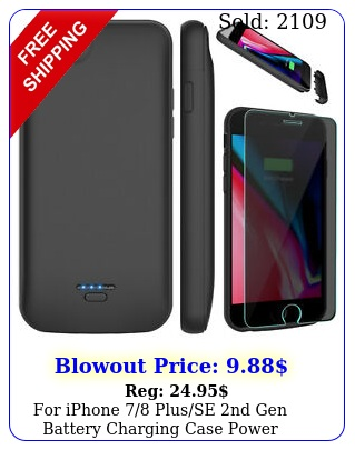 iphone plusse nd gen battery charging case power bankscreen protecto