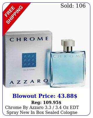 chrome by azzaro  oz edt spray in sealed cologne me