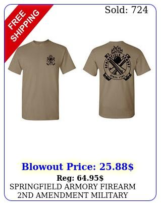 springfield armory firearm nd amendment military weapons tshirt graphic gun