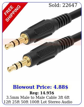 mm male to male cable ft ft ft ft ft ft lot stereo audio au