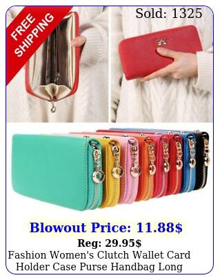 fashion women's clutch wallet card holder case purse handbag long leatherett