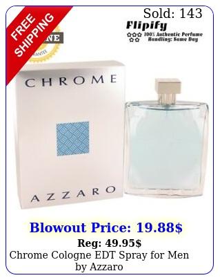 chrome cologne edt spray men by azzar