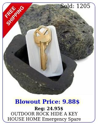 outdoor rock hide a key house home emergency spare key car holder hider saf