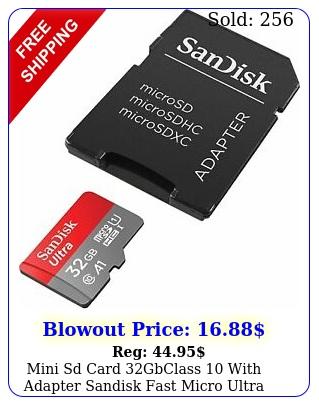 mini sd card gbclass with adapter sandisk fast micro ultra memor
