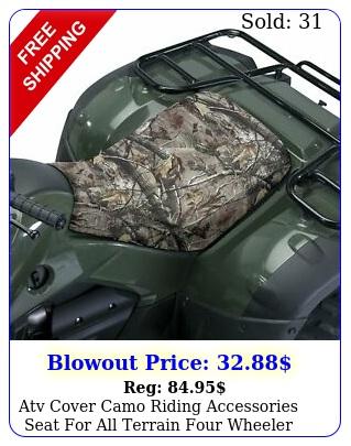 atv cover camo riding accessories seat all terrain four wheeler quad gear n