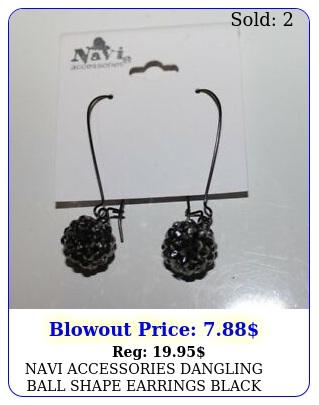 navi accessories dangling ball shape earrings blac