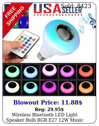 wireless bluetooth led light speaker bulb rgb e w music playing lamp remot