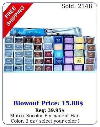 matrix socolor permanent hair color oz select your colo
