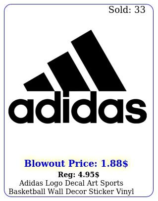 adidas logo decal art sports basketball wall decor sticker vinyl lapto