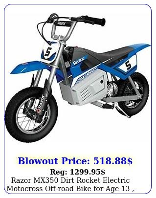 razor mx dirt rocket electric motocross offroad bike age  up to