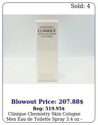 clinique chemistry skin cologne men eau de toilette spray oz in bo