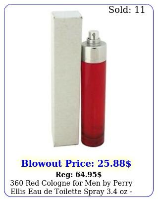 red cologne men by perry ellis eau de toilette spray oz teste