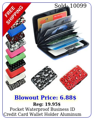 pocket waterproof business id credit card wallet holder aluminum metal rfid cas