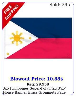 x philippines superpoly flag 'x' house banner brass grommets fade resistan