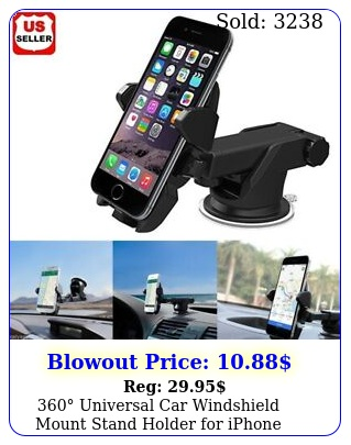universal car windshield mount stand holder iphone moblie phone gps pd