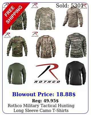 rothco military tactical hunting long sleeve camo tshirt