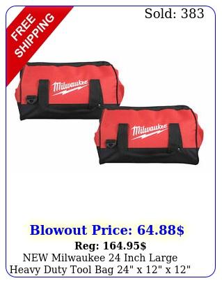 milwaukee inch large heavy duty tool bag x x