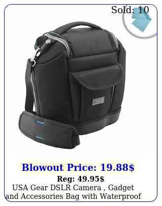 usa gear dslr camera gadget accessories bag with waterproof eva botto