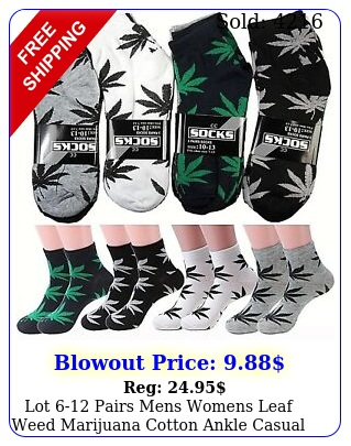 lot pairs mens womens leaf weed marijuana cotton ankle casual low cut sock