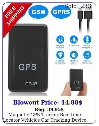 magnetic gps tracker real time locator vehicles car tracking device gsm gpr
