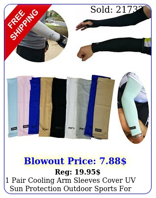 pair cooling arm sleeves cover uv sun protection outdoor sports men wome