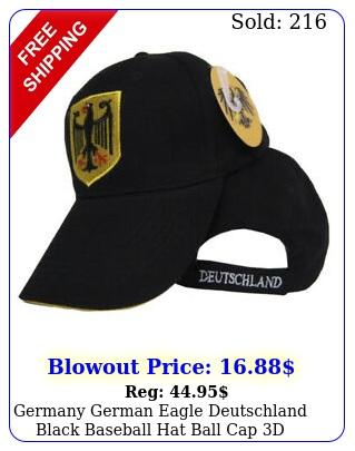 germany german eagle deutschland black baseball hat ball cap d embroidere
