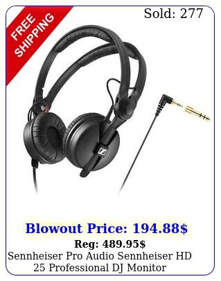 sennheiser pro audio sennheiser hd professional dj monitor headphone blac