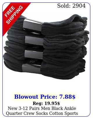 pairs men black ankle quarter crew socks cotton sports athletic low cu