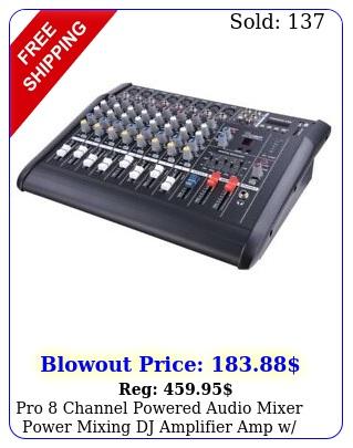 pro channel powered audio mixer power mixing dj amplifier amp w usb slot
