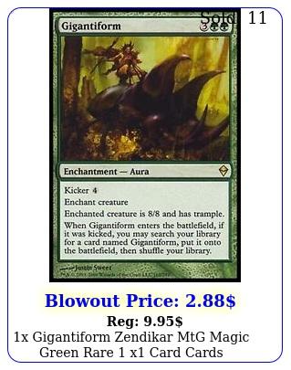 x gigantiform zendikar mtg magic green rare x card card