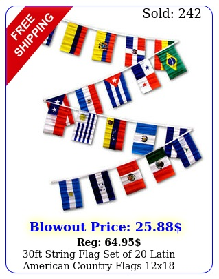 ft string flag set of latin american country flags x pennant
