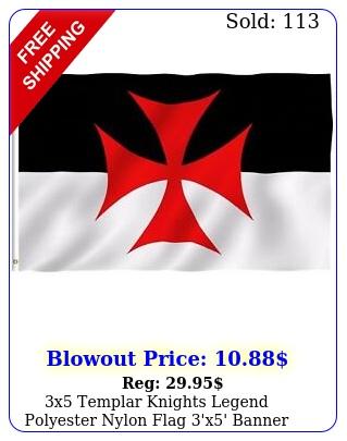 x templar knights legend polyester nylon flag 'x' banner brass grommet