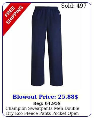 champion sweatpants men double dry eco fleece pants pocket open bottom midweigh