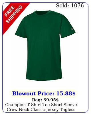 champion tshirt tee short sleeve crew neck classic jersey tagless cotto