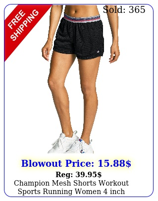 champion mesh shorts workout sports running women inch breathable relaxed fi