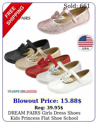 dream pairs girls dress shoes kids princess flat shoe school vintage party shoe