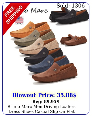 bruno marc men driving loafers dress shoes casual slip on flat moccasin