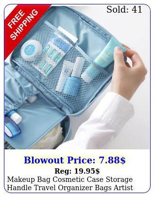 makeup bag cosmetic case storage handle travel organizer bags artist ki