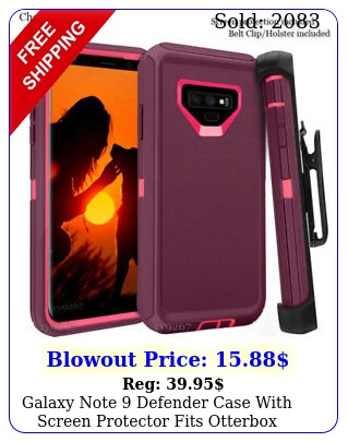 galaxy note defender case with screen protector fits otterbox multiple colo